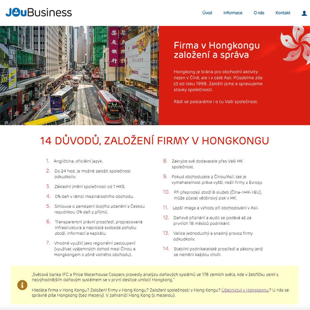 JOuBusiness.com - zakládání a správa firem v Hongkongu