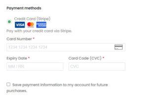 Stripe platební brána v e-shopu