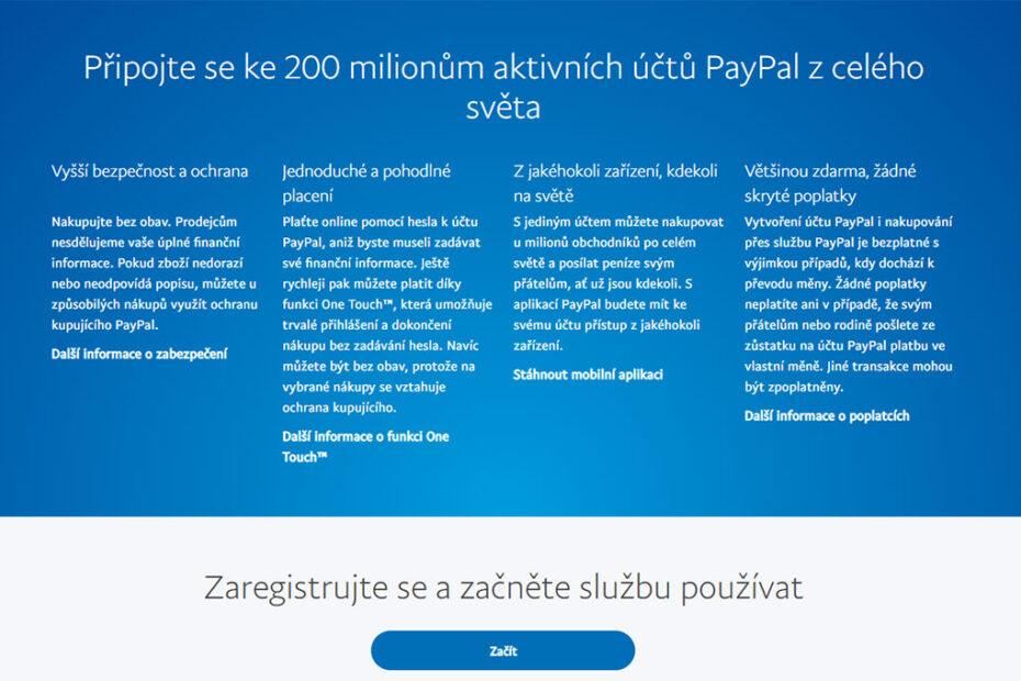 PayPal účet
